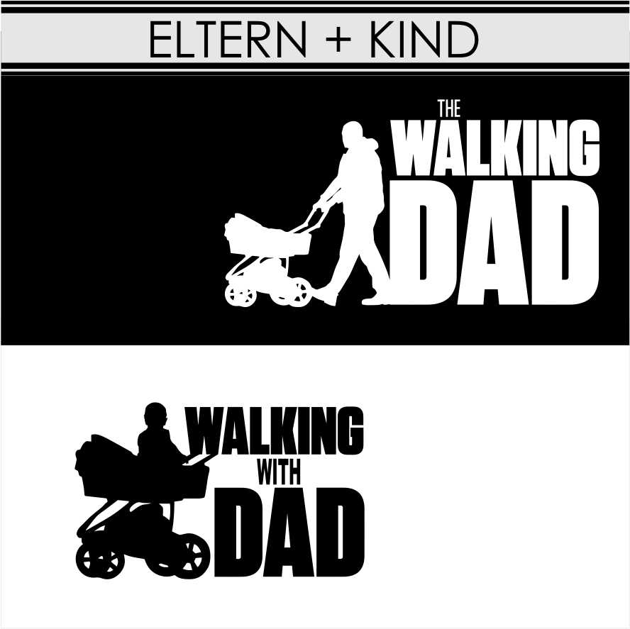 PARTNERSHIRT eltern kind-walking dad