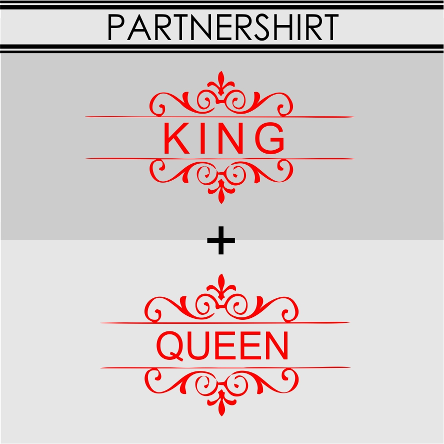 PARTNERSHIRT king queen