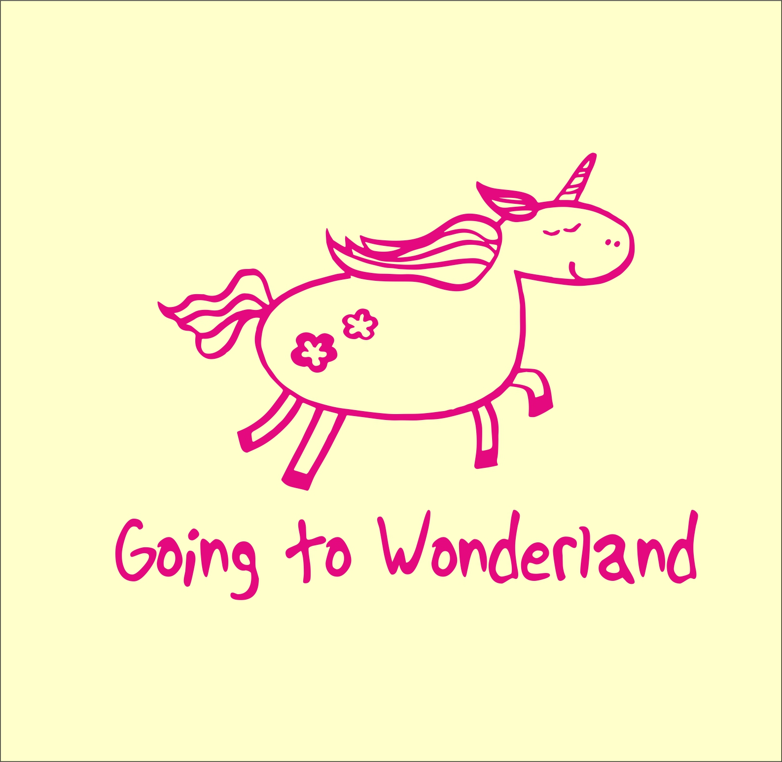going to wonderland